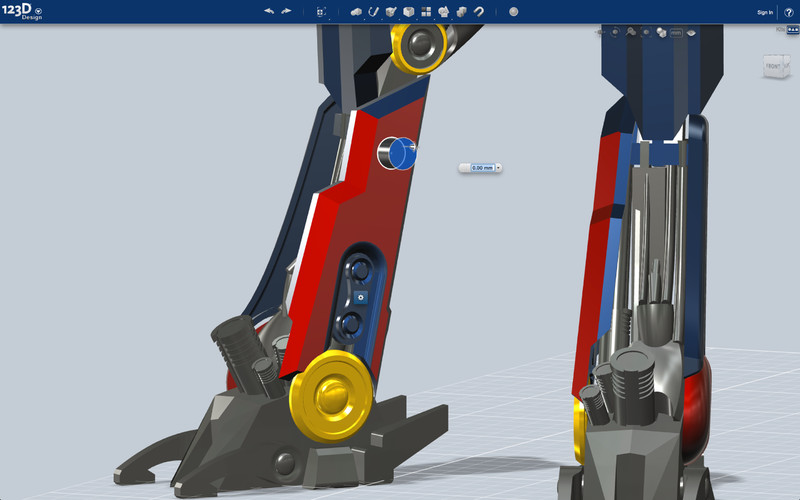 123D Design screenshot. 123D Design   Free Download   Zwodnik