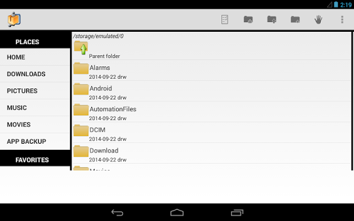 AndroZip File Manager for Android - Free Download - Zwodnik