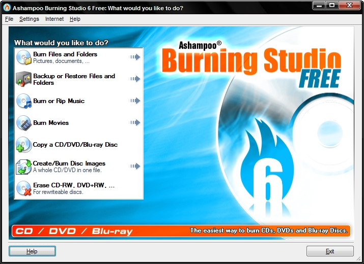 Ashampoo Burning Studio for Windows - Free Download - Zwodnik