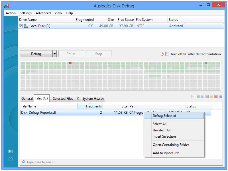 download auslogic disk defragmenter