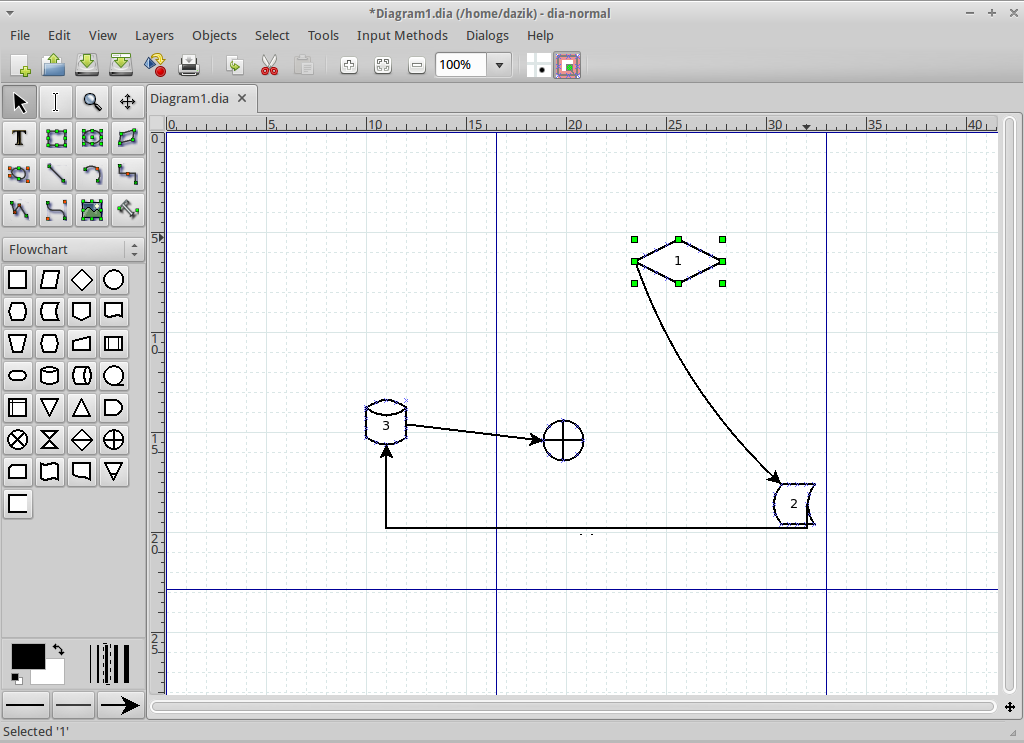 Dia flowchart create a flowchart dia screenshot medium size of diagram violet uml editor ccuart Images