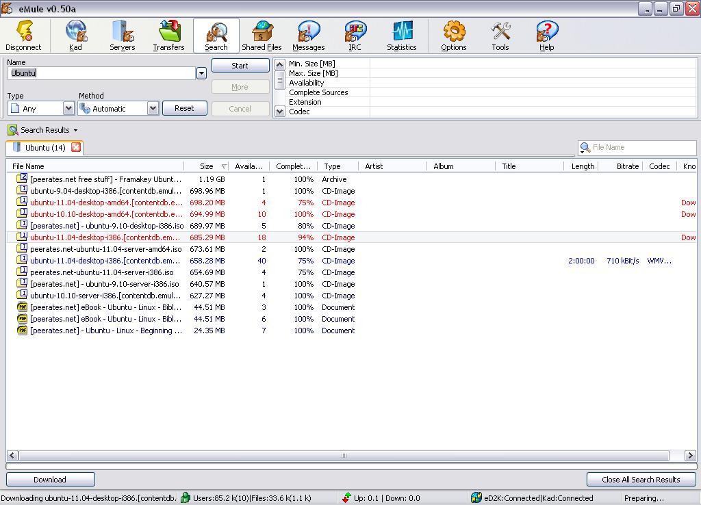 eMule for Windows - Free Download - Zwodnik