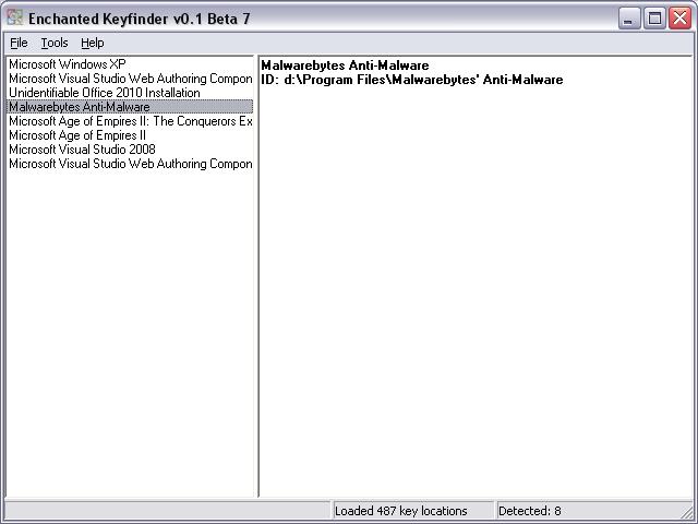 Enchanted Keyfinder for Windows - Free Download - Zwodnik