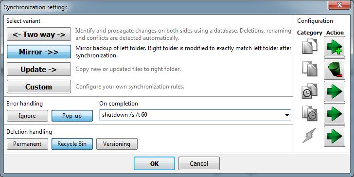 FreeFileSync for Windows - Free Download - Zwodnik
