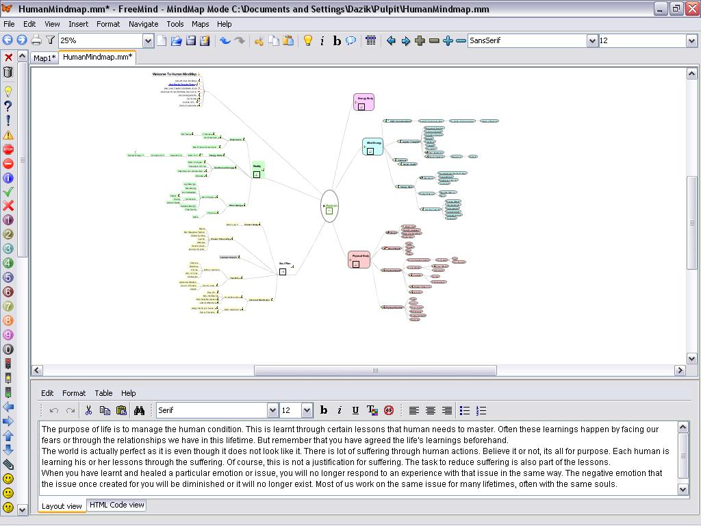 freemind screenshot - Free Mind Map Program