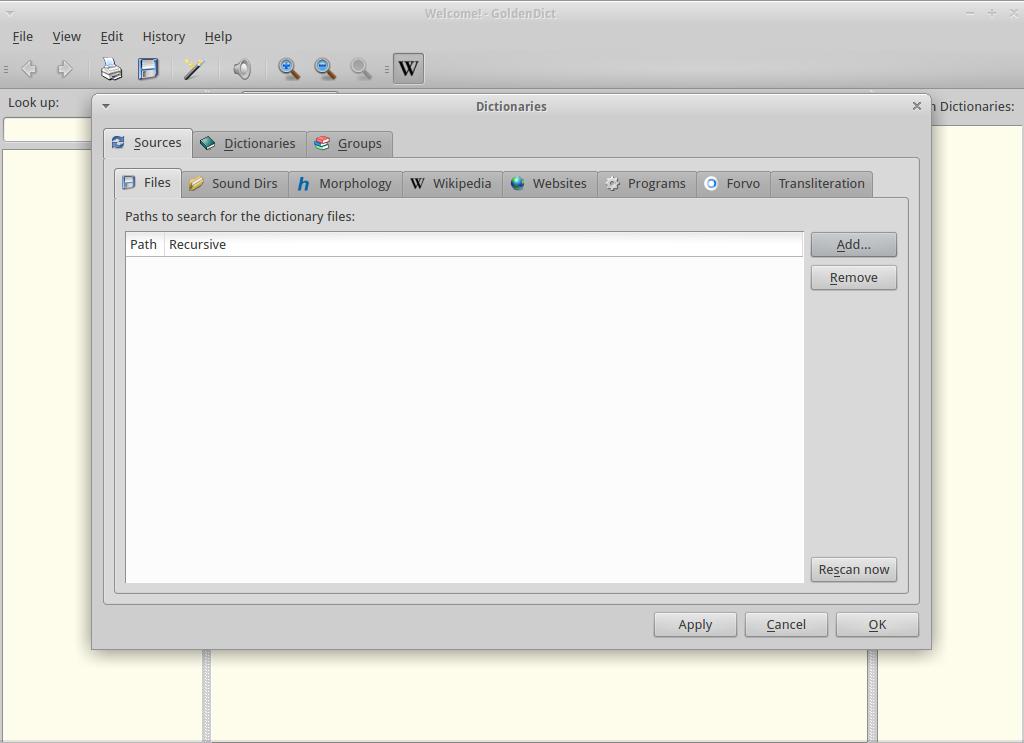 GoldenDict for Linux - Free Download - Zwodnik