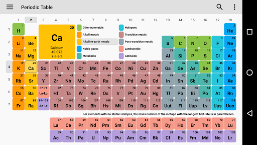 Periodic table for android free download zwodnik periodic table screenshot urtaz Image collections