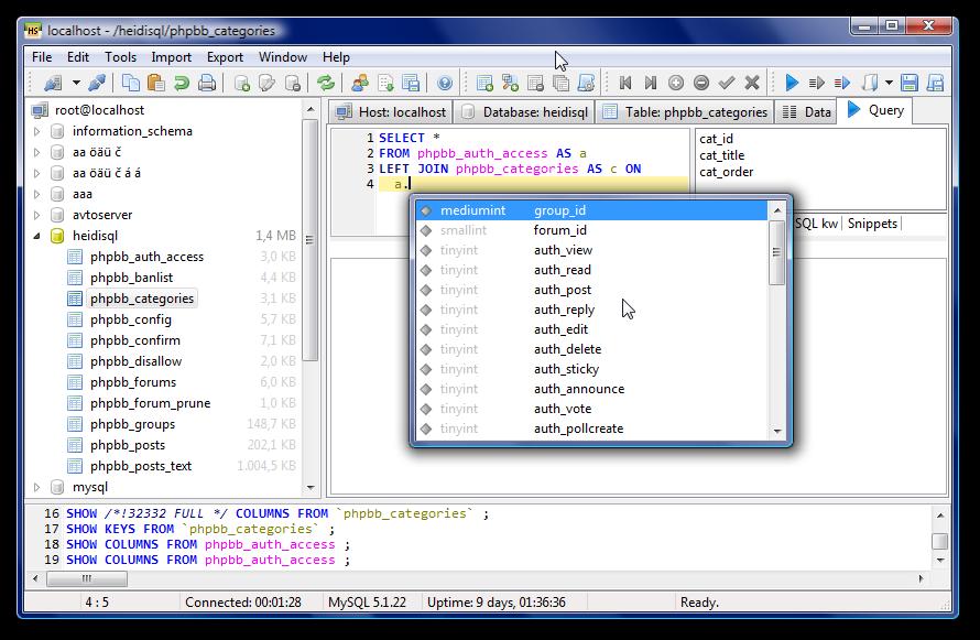 HeidiSQL for Windows - Free Download - Zwodnik