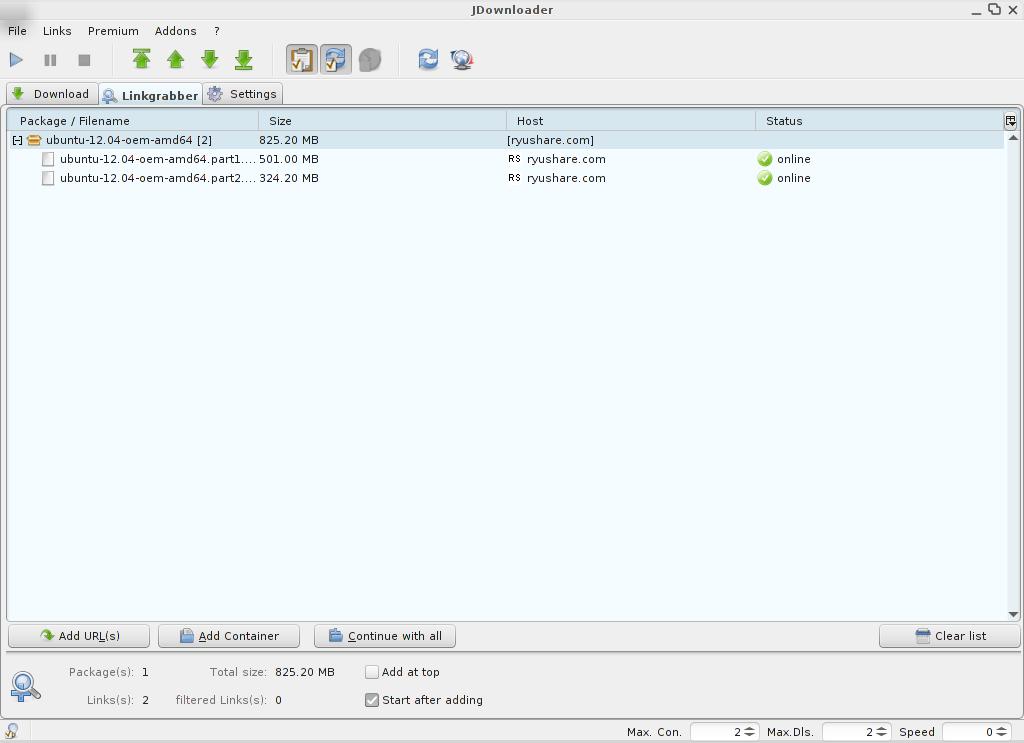 JDownloader for Linux - Free Download - Zwodnik