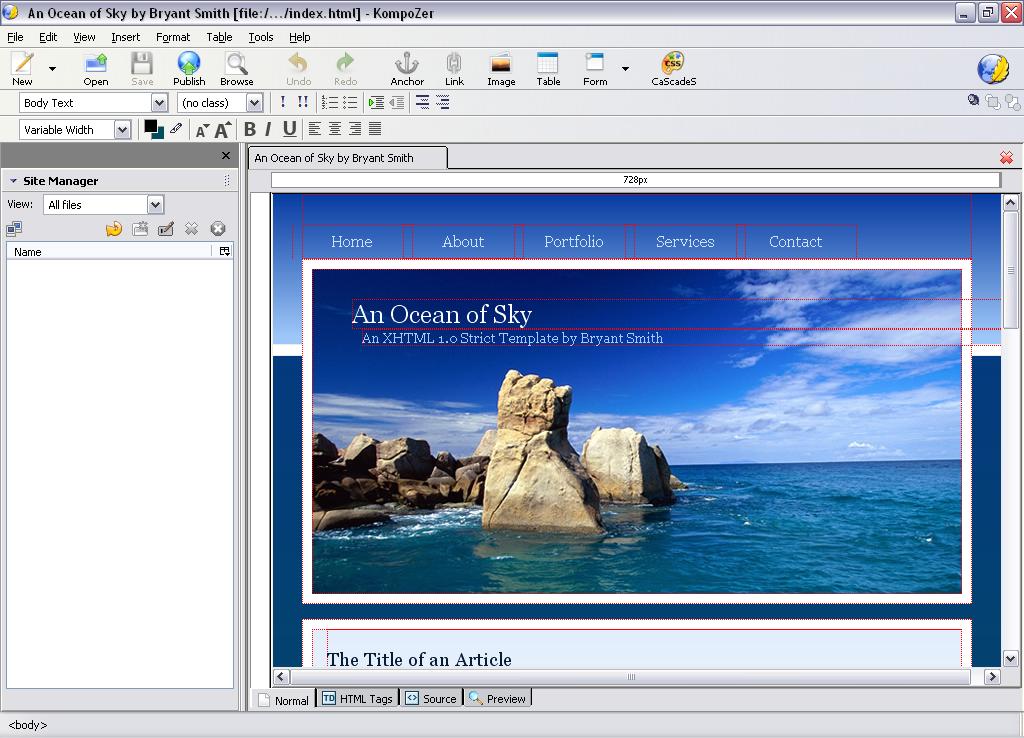KompoZer for Windows - Free Download - Zwodnik