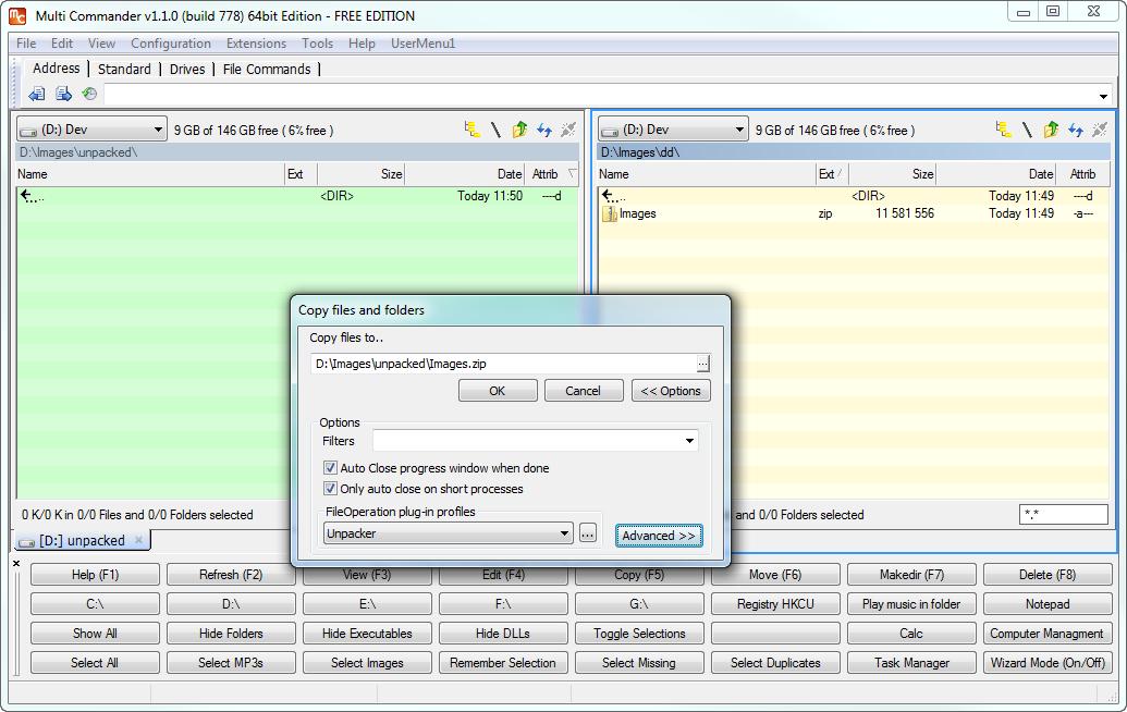 Multi Commander for Windows - Free Download - Zwodnik Multi Commander screenshot
