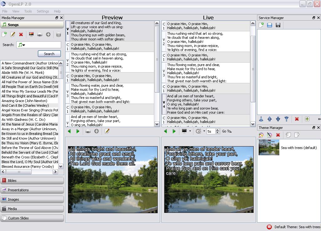 OpenLP for Windows - Free Download - Zwodnik