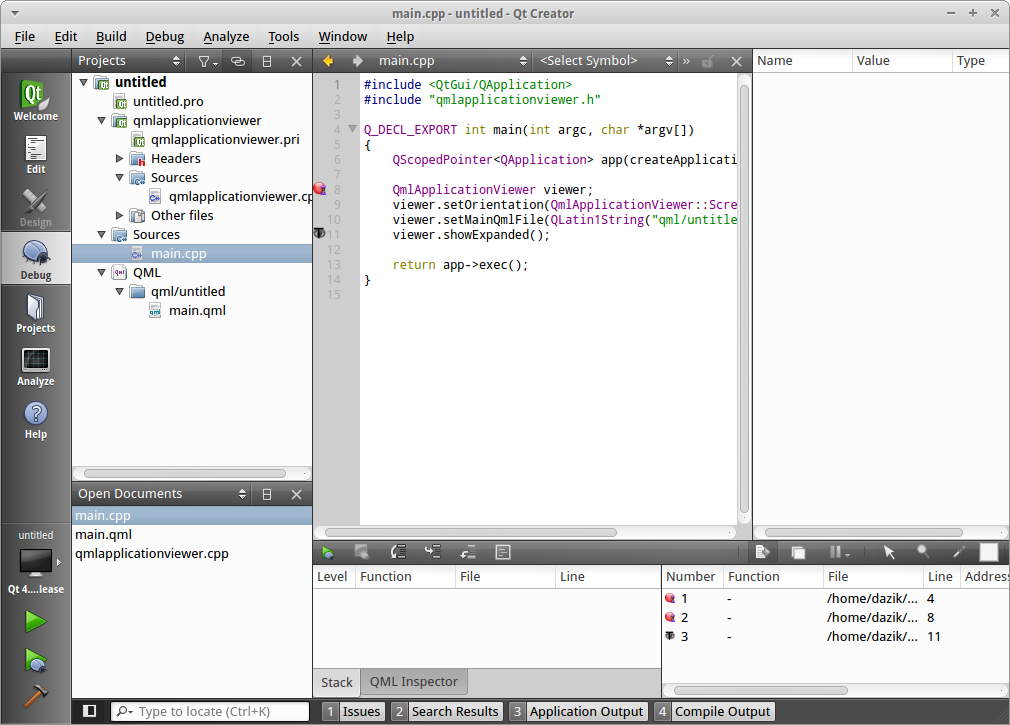 Qt Creator for Linux - Free Download - Zwodnik