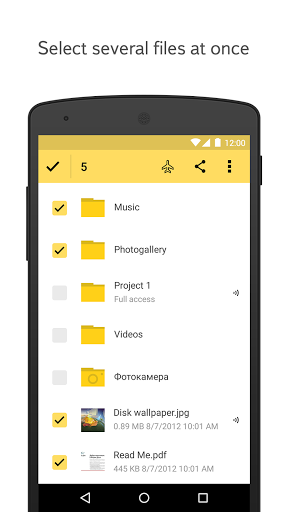 Yandex Disk for Android - Free Download - Zwodnik