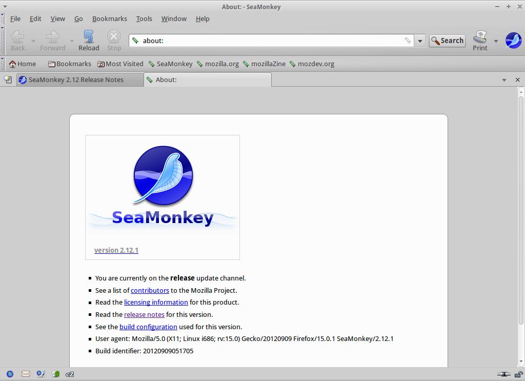 SeaMonkey for Linux - Free Download - Zwodnik