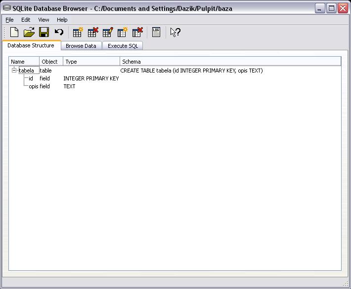 SQLite Database Browser for Windows - Free Download - Zwodnik