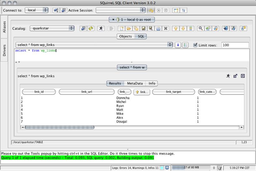 SQuirreL SQL - Free Download - Zwodnik