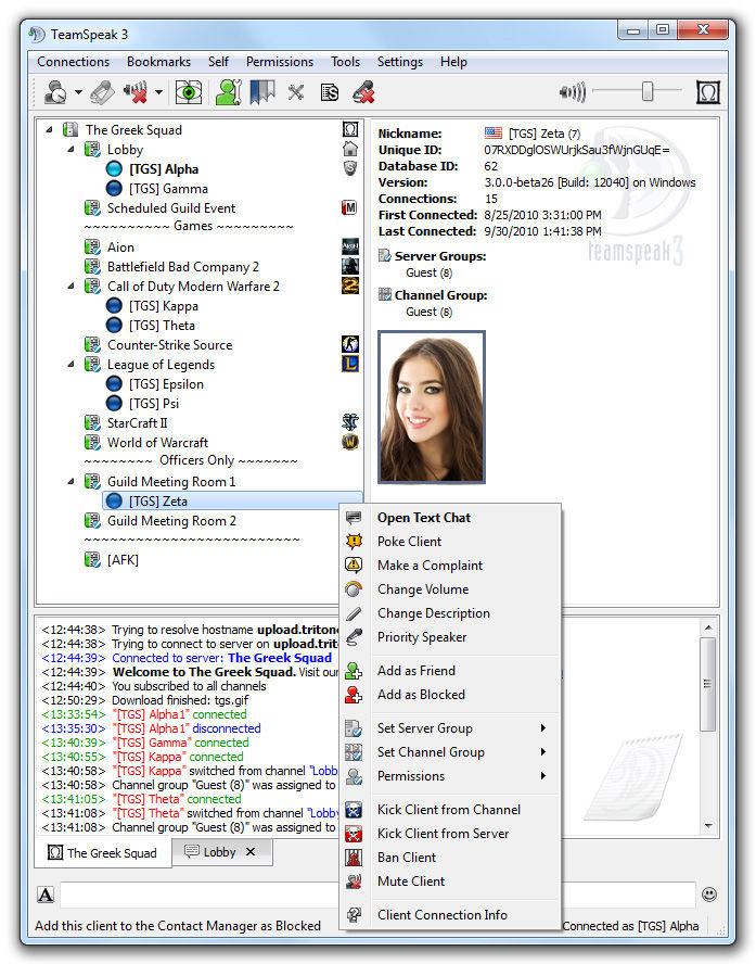free ts chat room