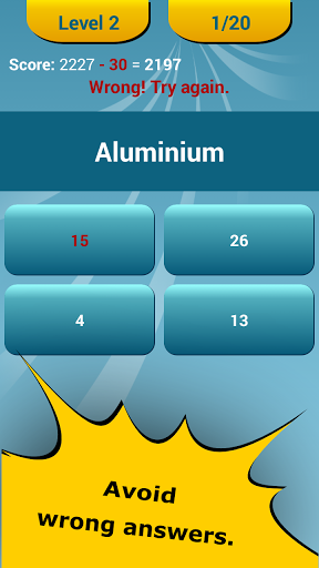 Periodic table quiz for android free download zwodnik periodic table quiz screenshot urtaz Gallery