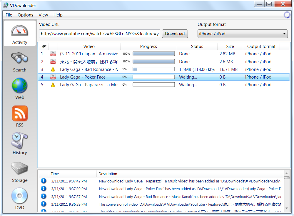 vdownloader gratuit 2011