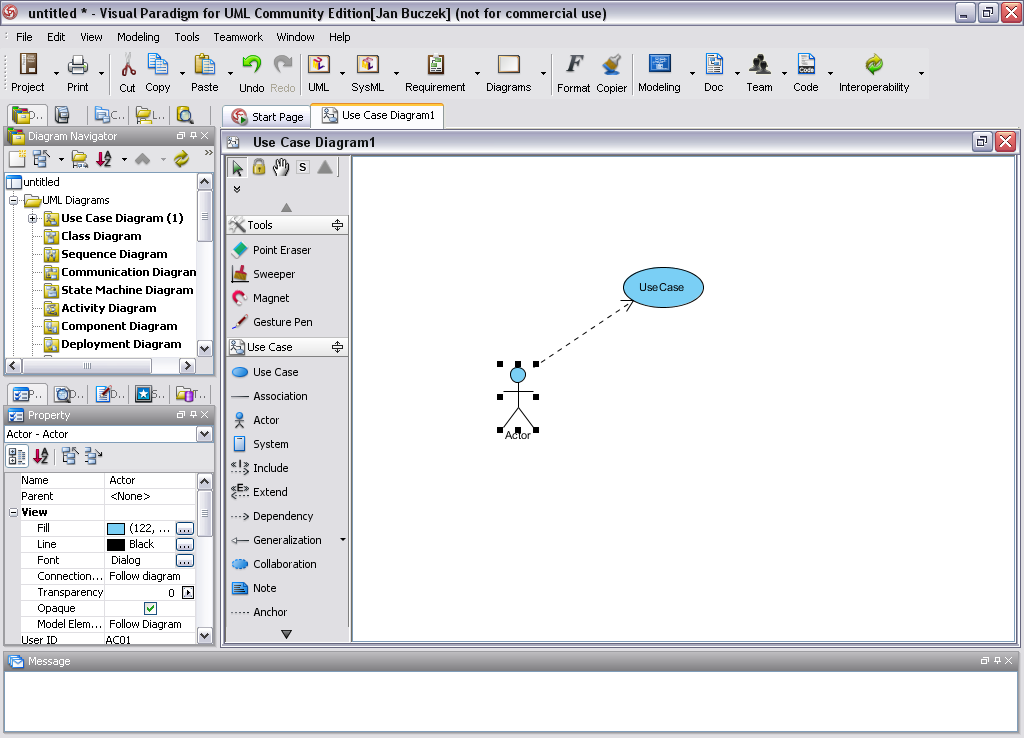visual paradigm for uml screenshot - Visual Paradigma