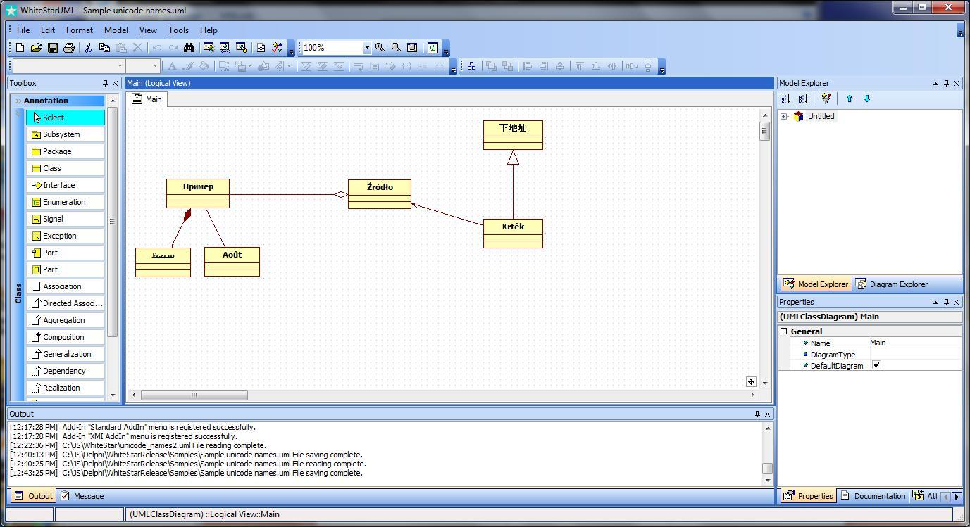 Whitestaruml For Windows Free Download Zwodnik Uml Statechart Diagrams Examples And Software Screenshot