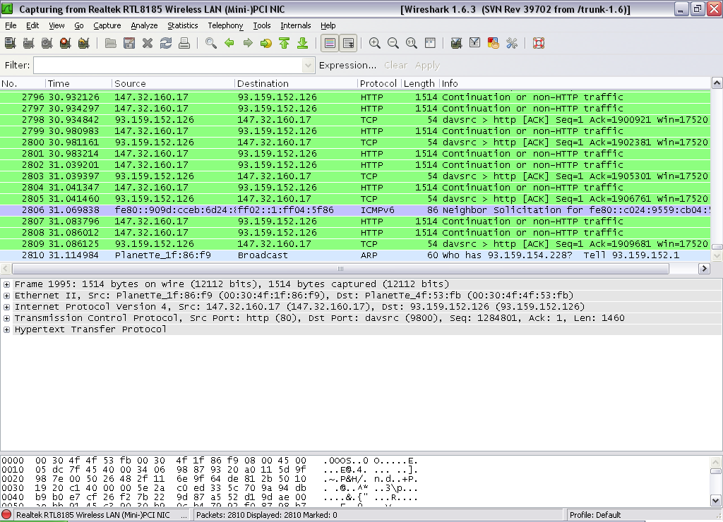 wireshark  for windows xp
