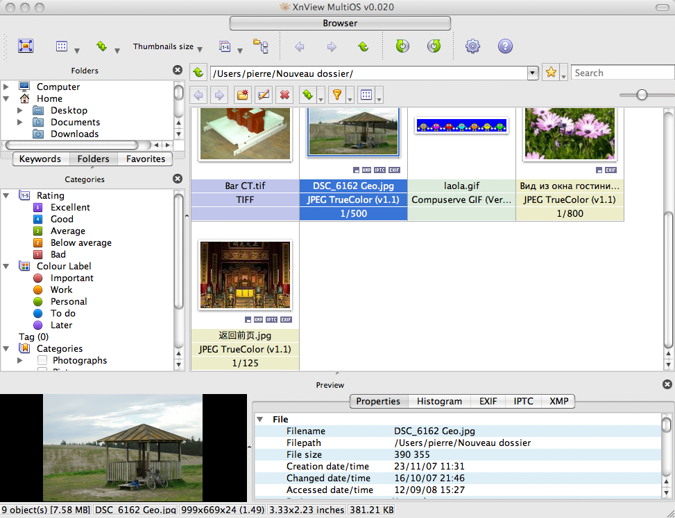 Xnview software · xnviewmp 0. 54.